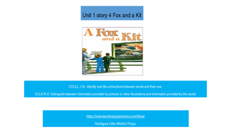 1st grade Unit 1 story 4 Fox and Kit