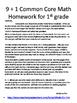 1st grade class/homework spiral review January- 2 months w