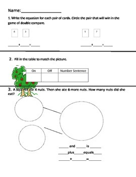 1st grade number bond, fact family, ways to make 7, and  a