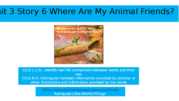 1st grade unit 3 story 6 Where are my Friends?