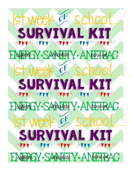 1st week survival kit