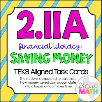 2.11A: Financial Literacy: Saving Money TEKS Aligned Task