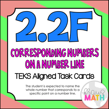 2.2F: Naming Whole Numbers on a Number Line TEKS Aligned T