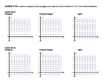 2-3 Activity A Creating Histograms, Frequency Polygons, Ogives