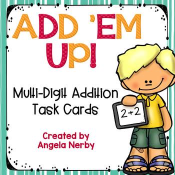 2 & 3 Digit Addition Task Cards