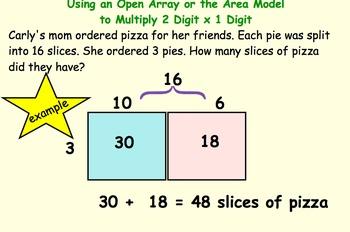2-3 Digit  Multiplication Smartboard 4.NBT.B. Area Model a