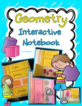 Interactive Geometry Notebook 2 & 3 Dimensional Shapes  (F