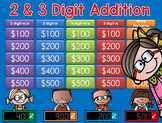 Addition GAME SHOW - 2 & 3 digits 2nd Grade
