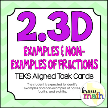 2.3D: Examples & Non-Examples of Fractions TEKS Aligned Ta