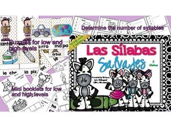 2-5 Syllables BUNDLE in SPANISH - PAQUETE de 2-5 silabas G
