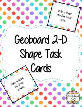 2-D Geoboard Task Cards