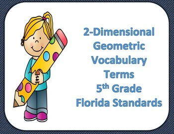 2-D Geometric Vocabulary Terms 5th Grade