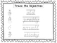 2 D'Nealian Trace the Adjectives Worksheets. Preschool-2nd
