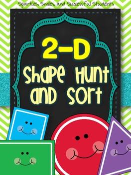 2-D Shape Hunt and Sort