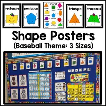 2-D Shape Posters (Baseball Theme)