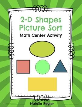 2-D Shapes Picture Sort