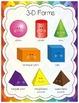 2D Shapes and 3D Shapes (Forms) Poster Set (Set of 25 Engl