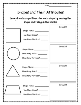 2-D Shapes and Their Attributes