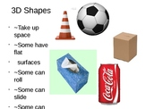 2 D and 3 D Shapes Review