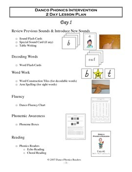 2 Day Danco Lesson Plan