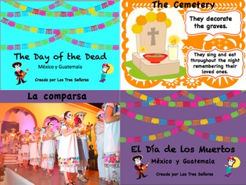 2 Day of the Dead PowerPoints in Spanish and English (each