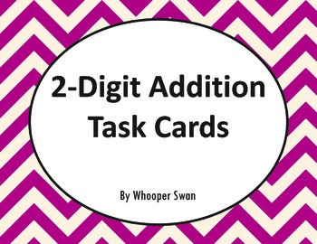 2-Digit Addition Task Cards