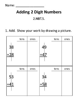 2-Digit Addition Assessment