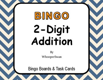 2-Digit Addition BINGO and Task Cards