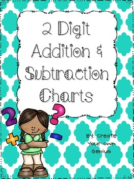 2 Digit Addition Chart for Regrouping- Includes Subtractio
