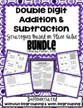 2-Digit Addition & Subtraction Place Value Strategies BUNDLE