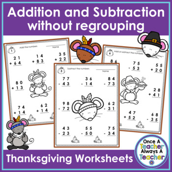 2-Digit Addition & Subtraction without Regrouping Workshee
