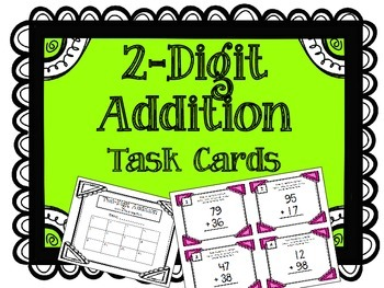 2-Digit Addition Task Cards. Addends. Math Centers