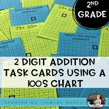 2 Digit Addition Task Cards Using a 100s Chart