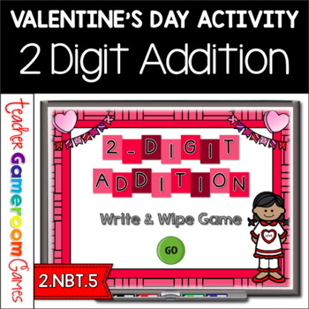 2 Digit Addition Valentine's Day Powerpoint Game