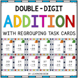 2-Digit Addition Task Cards (With Regrouping)