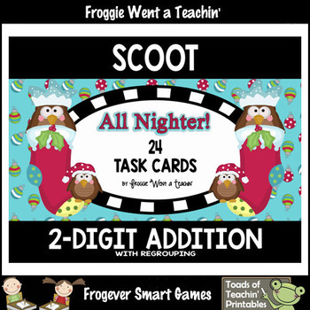 """2-Digit Addition With Regrouping -- """"All Nighter!"""""""