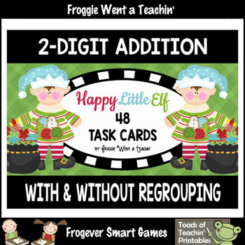 """2-Digit Addition With and Without Regrouping -- """"Happy Lit"""