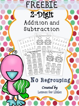2-Digit Addition and Subtraction No Regrouping  FREE