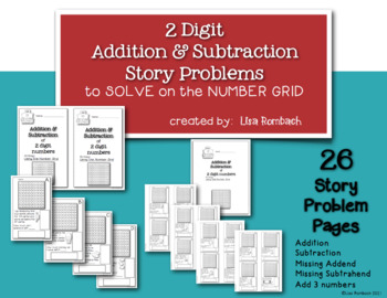 2 Digit Addition and Subtraction Story Problem Booklet