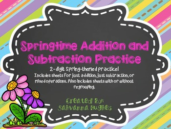 2-Digit Addition and Subtraction Spring Bundle