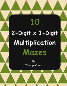2-Digit By 1-Digit Multiplication Maze