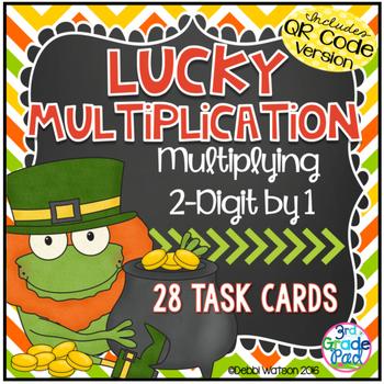 2-Digit Multiplication  QR Code Task Cards