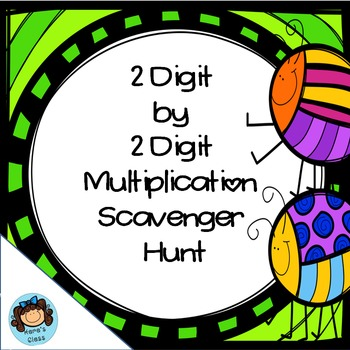 2 Digit Multiplication Scavenger Hunt