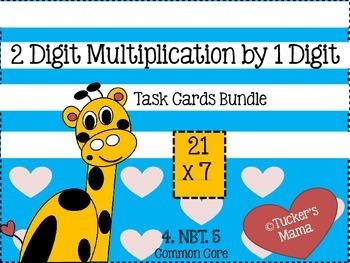 2 Digit Multiplication (Task Cards Bundle)