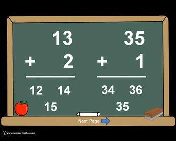 2 Digit Plus 1 Digit NO Regrouping-PowerPoint Quiz - Match