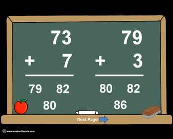 2 Digit Plus 1 Digit WITH Regrouping-PowerPoint Quiz - Mat