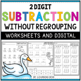 2-Digit Subtraction Worksheets (No Regrouping)