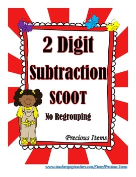 2 Digit Subtraction With NO Regrouping Scoot