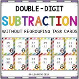 2-Digit Subtraction Task Cards (Without Regrouping)