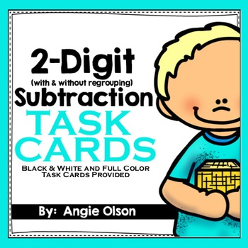 2-Digit Subtraction with Regrouping Task Cards